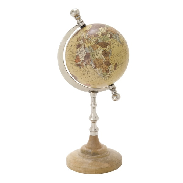 The Gray Barn Crow Haven Metal Pvc Globe Accent Piece