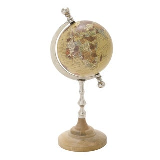 And Metal Pvc Globe 7-inch x 16-inch Accent Piece