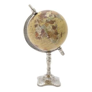 Metal Pvc Globe 7-inch x 13-inch Accent Piece