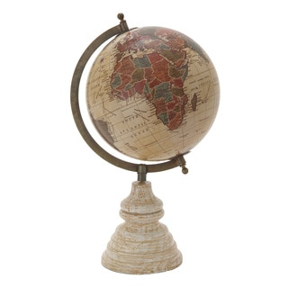The Gray Barn Crow Haven Metal Wood Pvc Globe 9-inch x 15-inch Accent Piece