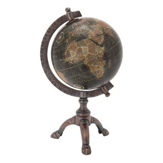 Metal Pvc Globe 7-inch x 12-inch Accent Piece
