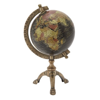Copper Grove Lupinus Brass Globe With Metal Stand