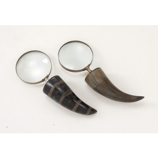 Brass Horn Magnify 2 Assorted 4-inch x 11-inch Accent Piece