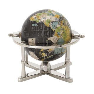 Metal Pvc Globe 7-inch x 7-inch Accent Piece