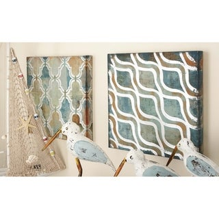 Canvas Art Set of 3 12-inch x 12-inch Accent Piece