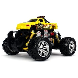 Graffiti V.2 Dodge Ram Pickup Battery Operated RC Off-Road Monster Truck 1:18 Scale 4 Wheel Drive RTR (Colors May Vary)