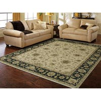 Ogden Traditional Design Black Hand-Knotted Rug - 2' x 3'