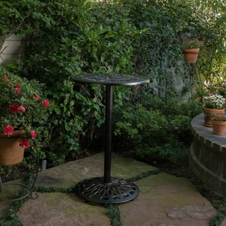 Superior Santa Maria Outdoor Cast Aluminum Round Bar Table (ONLY) By Christopher  Knight Home