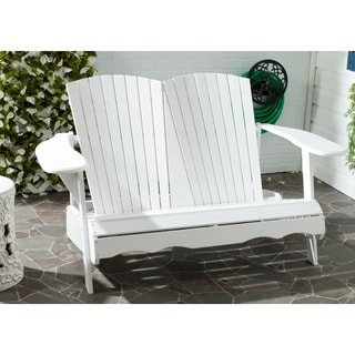 Safavieh Hantom Outdoor White Bench