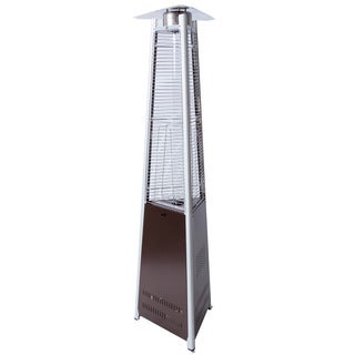 Somette Bronze Triangular Outdoor Overhead 7.6 ft. Patio Heater