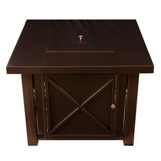 Somette Bronze Square Fire Pit Table