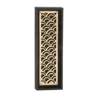 Wooden Silver Wall Decor 12-inch x 36-inch Accent Piece