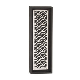 And Wooden Silver Wall Decor 12-inch x 36-inch Accent Piece