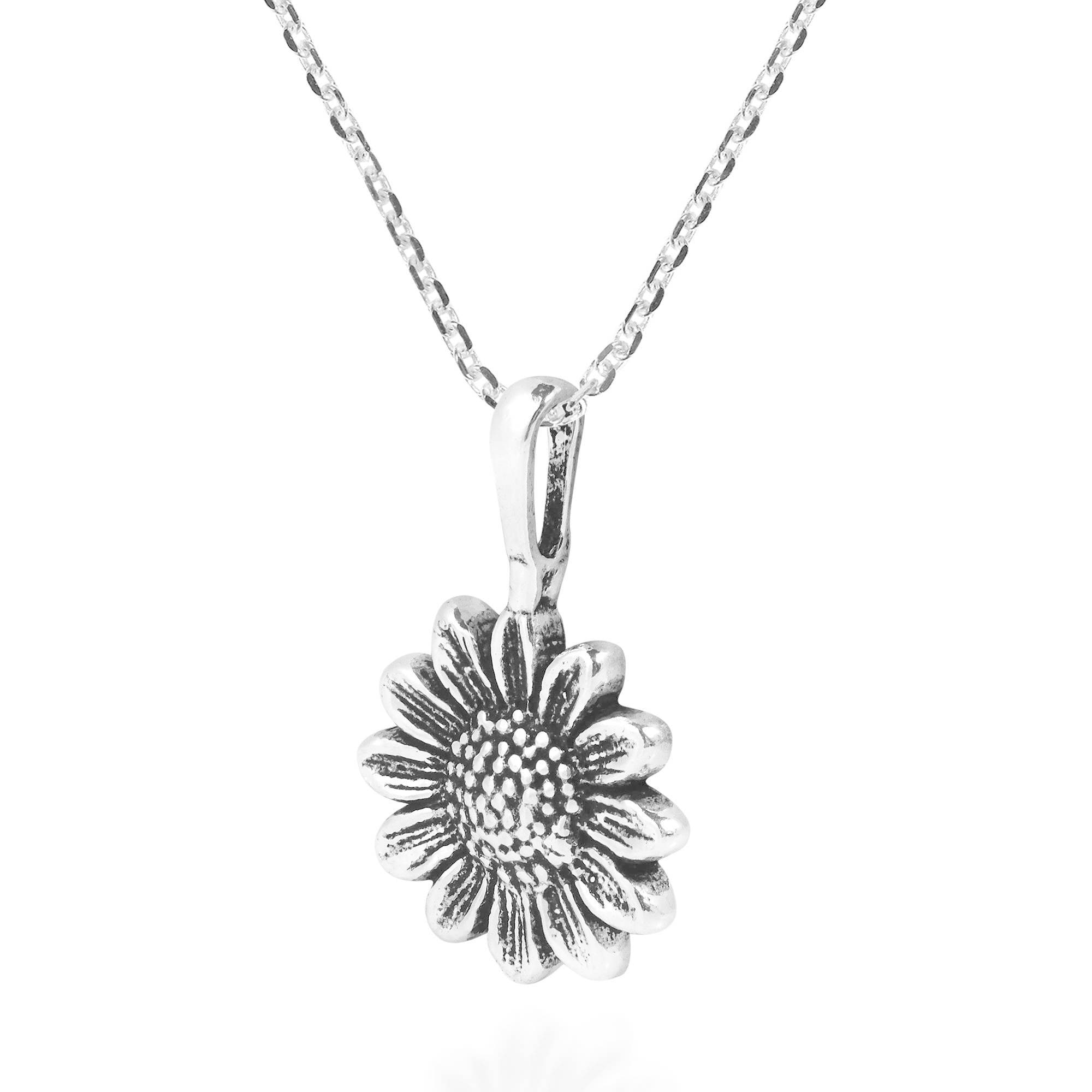Handmade Enchanting Sunflower Sterling Silver Pendant Necklace Thailand Overstock 11383553 Give one to that special someone who's the warmth and happiness. handmade enchanting sunflower sterling silver pendant necklace thailand