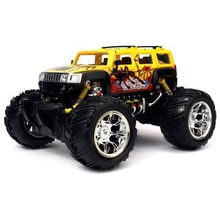 Velocity Toys Graffiti H2 SUV Remote Control RC Truck 1:16 Scale Big Size Off Road Monster Truck (Colors May Vary)