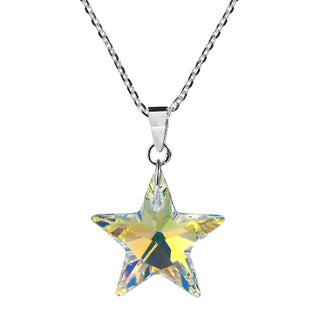 Shining Star Glitzy Crystal Sterling Silver Necklace (Thailand)