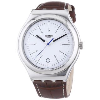Swatch Men's YWS401 'Irony Sppia' Brown Leather Watch
