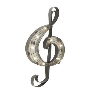 Metal Led Music Wall Decor 14-inch x 26-inch Accent Piece