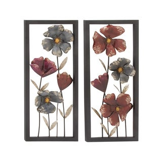 Metal Wall Decor 2 Assorted 16-inch x 36-inch Accent Piece