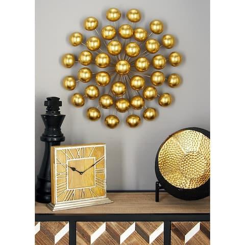 Modern 24 Inch Ball Burst Tin Wall Sculpture by Studio 350