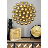 Modern 24 Inch Ball Burst Tin Wall Sculpture by Studio 350
