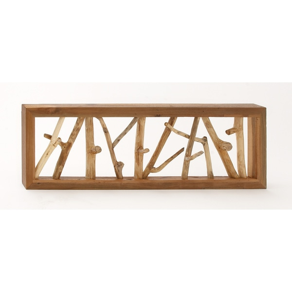 Teak Branch Wall Decor 36-inch x 12-inch Accent Piece
