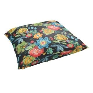 Selena Black Tropical 28 x 28-inch Indoor/ Outdoor Knife Edge Floor Pillow