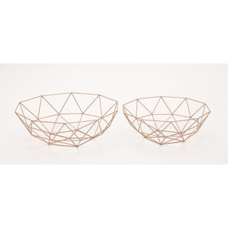 Set of Two Metal Baskets Storage Accessory
