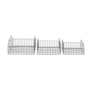 Basket Set of 3 Storage Accessory