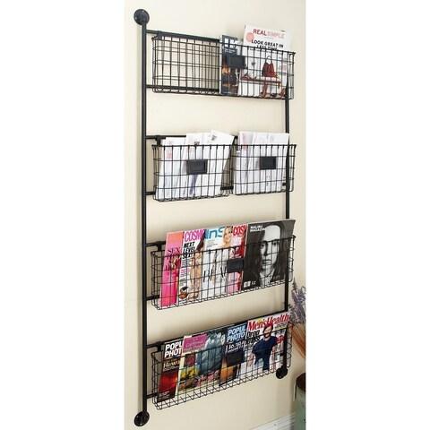 Metal Wall Basket 24-inch x 61-inch Storage Accessory
