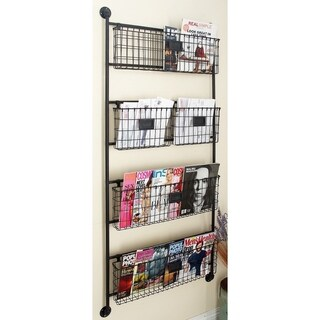 Metal Wall Basket 24-inch x 61-inch Storage Accessory