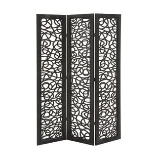3 Panel Wooden Screen 48-inch x 72-inch Decorative Screen