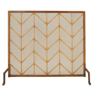 Metal Fire Screen 36-inch x 32-inch Decorative Screen