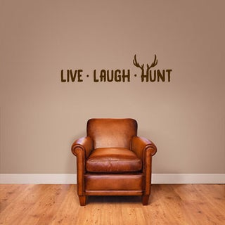 Live Laugh Hunt Small Wall Decal