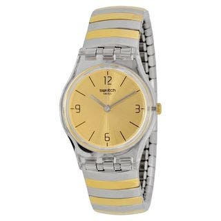 Swatch Women's LK351B 'Originals Enilorac' Two-Tone Stainless Steel Watch|https://ak1.ostkcdn.com/images/products/11383746/P18351999.jpg?impolicy=medium