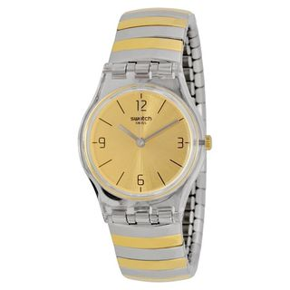 Swatch Women's LK351B 'Originals Enilorac' Two-Tone Stainless Steel Watch