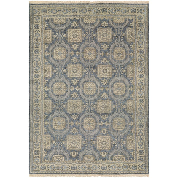 Couristan Tenali Hapur Steel Blue Wool Area Rug - 8' x 11'3""