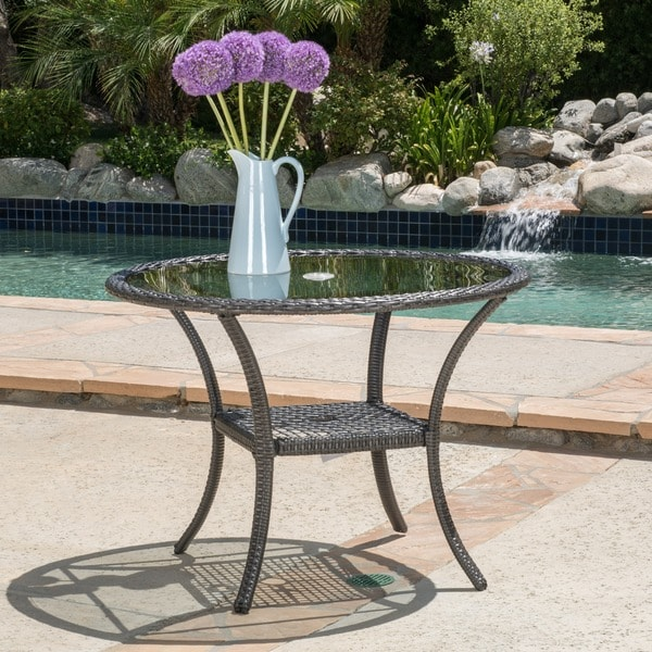 knight home outdoor wicker dining table only small rattan cube and chairs 6