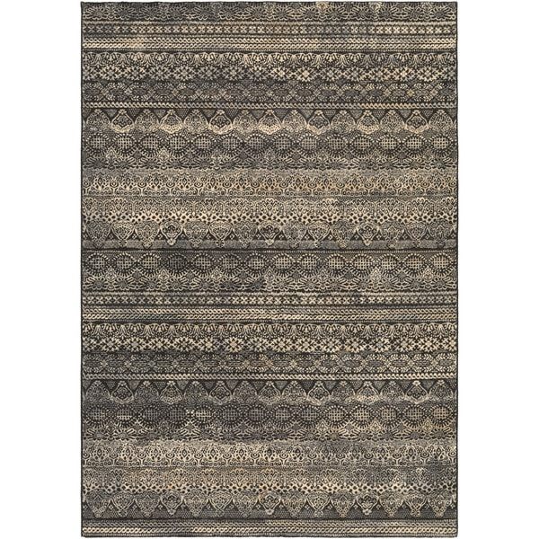 Couristan Easton Capella Black- Grey Area Rug - 7'10 x 11'2