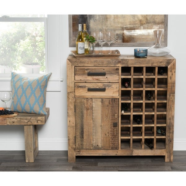 Oscar Reclaimed Wood Wine Cabinet By Kosas Home Free Shipping Today 18352062