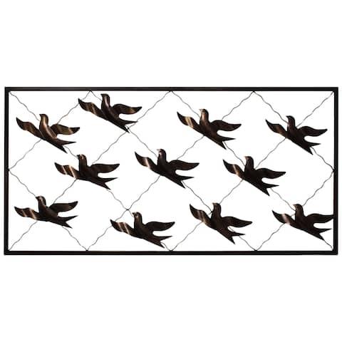 Handmade Flock of Birds Metal Wall Decor