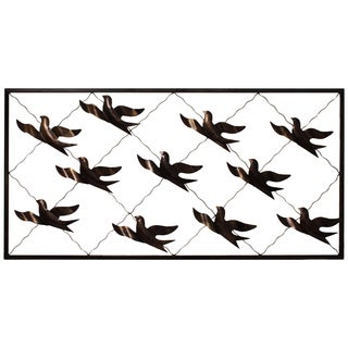 Flock of Birds Handcrafted Metal Wall Decor