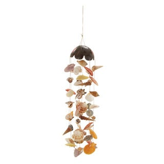 Coconut Shell Wind Chime 7-inch x 30-inch Garden Accent