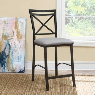 Dorel Living Devon Crossback Counter Height Stool