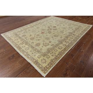 W1354 Wool Chobi Peshawar Hand-knotted Oriental Rug (7' x 9')