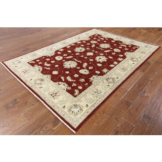 W1344 Wool Oriental Collection Peshawar Chobi Hand-knotted Rug (6' x 8')