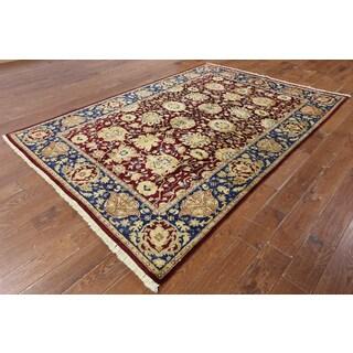 W1347 Wool Peshawar Oriental Chobi Hand-knotted Rug (6' x 9')