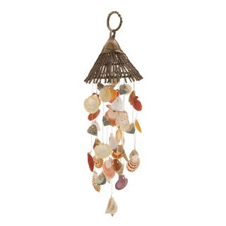 Shell Wood Wind Chime 7-inch x 27-inch Garden Accent