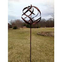 Copper Sphere Wind Spinner