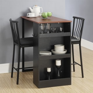 Link to Avenue Greene 3-Pc Counter Height Bar Set with Chairs Similar Items in Dining Room & Bar Furniture